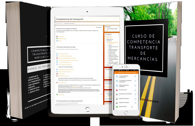 ipad iphone mockupcon libro - Fecha examen . Competencia de transporte Andalucía