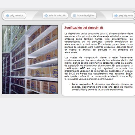 viual1 - Curso de gestión y logística del almacén